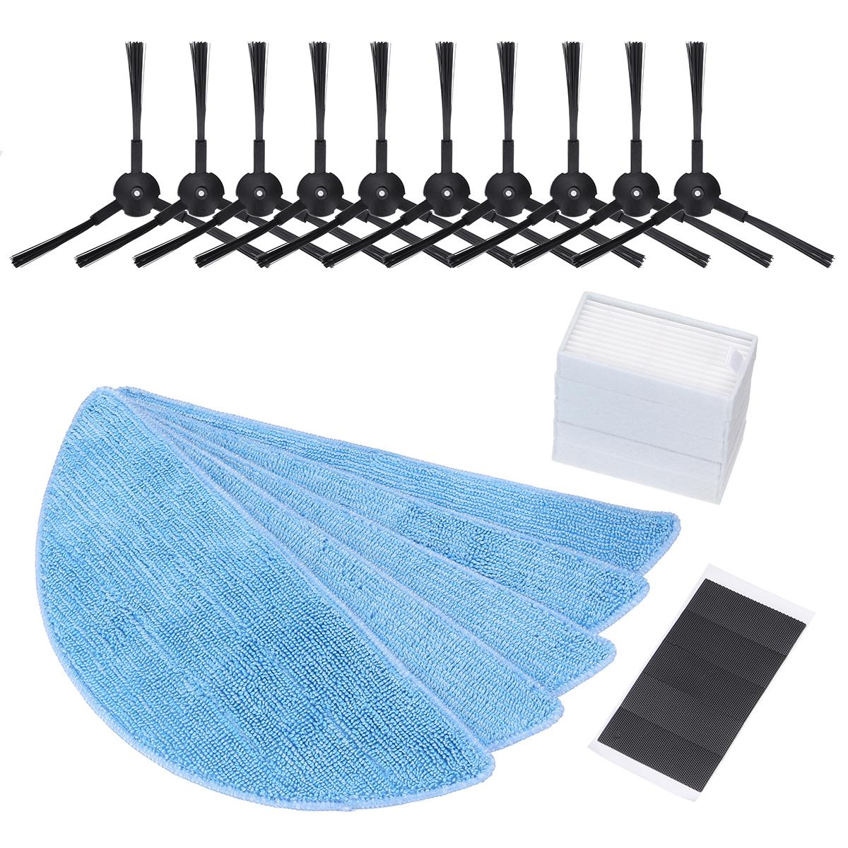 Премиум ILIFE Аксессуары Пылесос 25PCS Тканевый пылесос Mop Замена для ILIFE Robot V3 V3 V5 V5S V5S Pro (10 Кисти + 5 губок + 5 фильтровальных полотен + 5 крепежных э