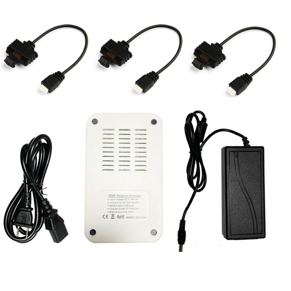 В-1 Smart Balance Батарея Адаптер зарядного устройства с 3шт. Соединенным кабелем для Hubsan Zino Pro / Zino H117S RC Дрон Квадрокоптер