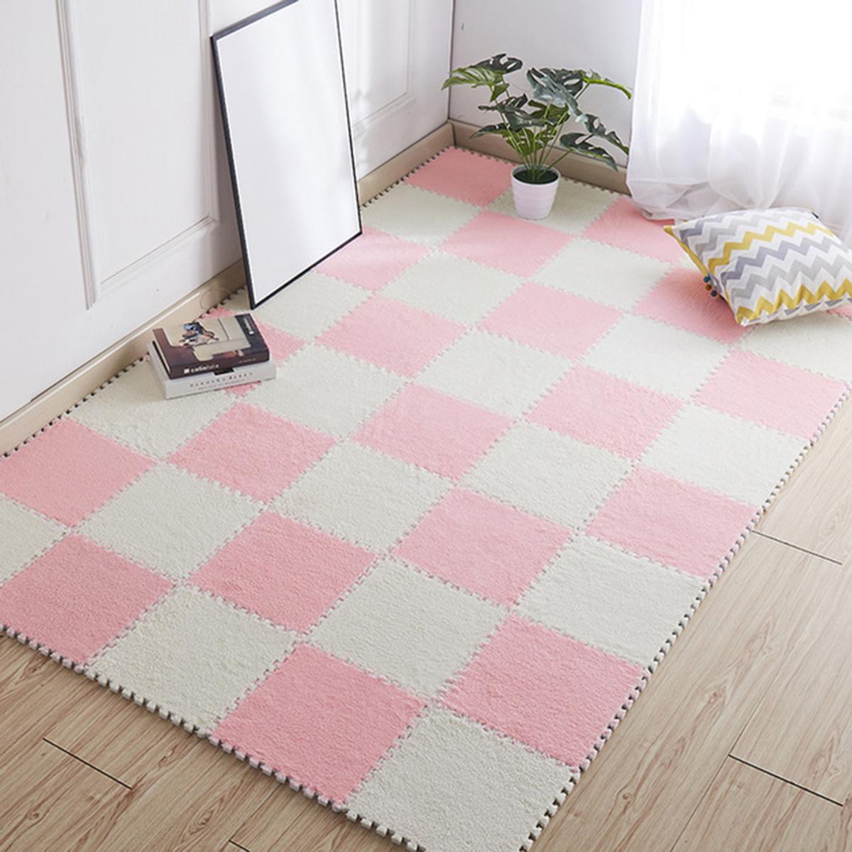 Шт 30см (11,8 #and#quot;) детский коврик для ползания пены EVA Flush пушистый ковер дети дети головоломки играть коврики