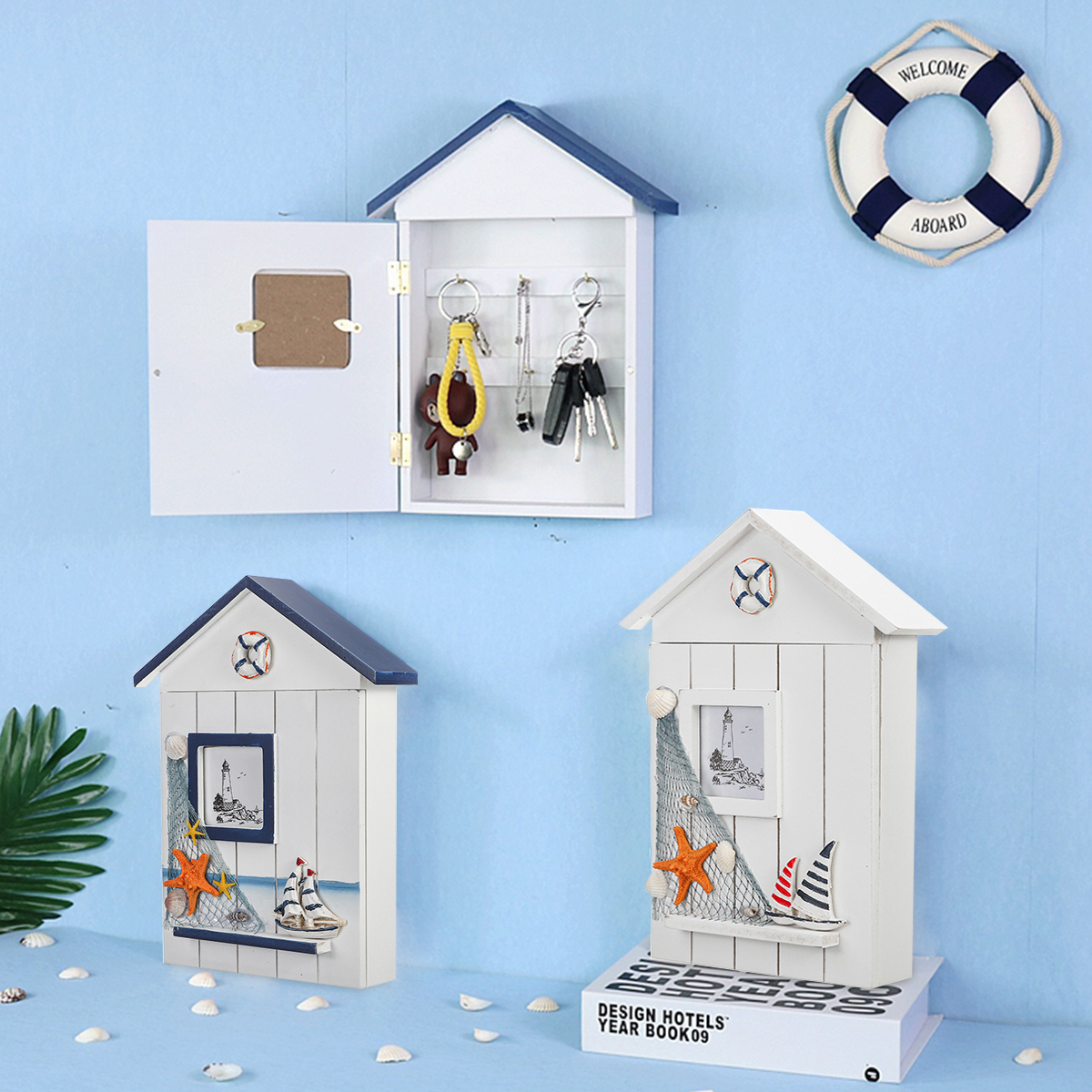 Ключик для дома в средиземноморском стиле Коробка держатель Органайзер настенное крепление Инструмент Коробкаs