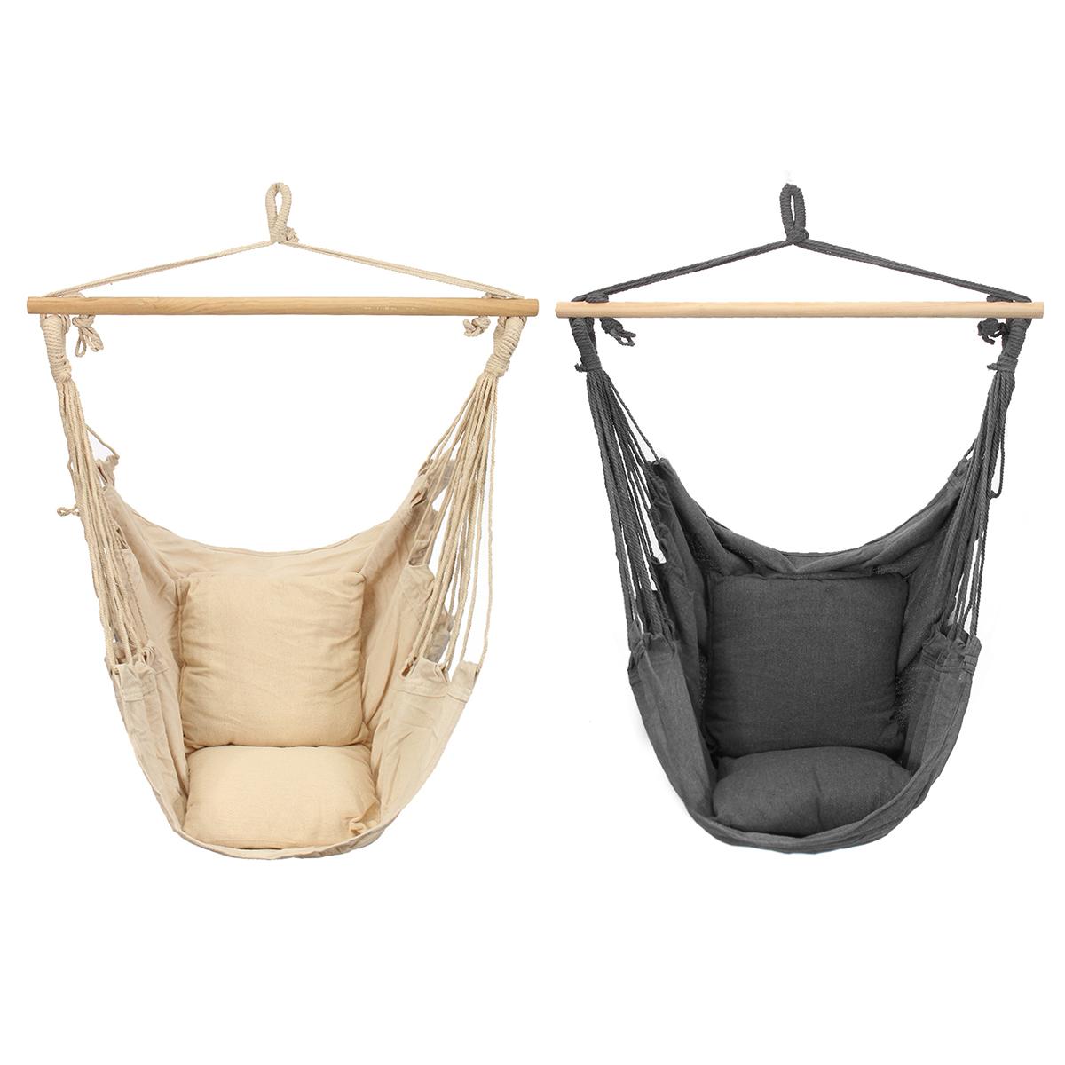 Качели, подвесные стулья гамак Deluxe включает в себя Soft подушки На открытом воздухе Кемпинг рама