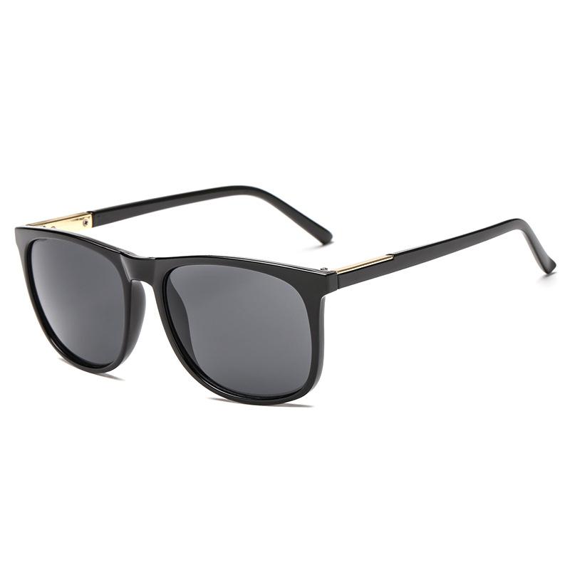 Многоцветные твердые солнцезащитные очки Retro Trend Квадратные солнцезащитные очки