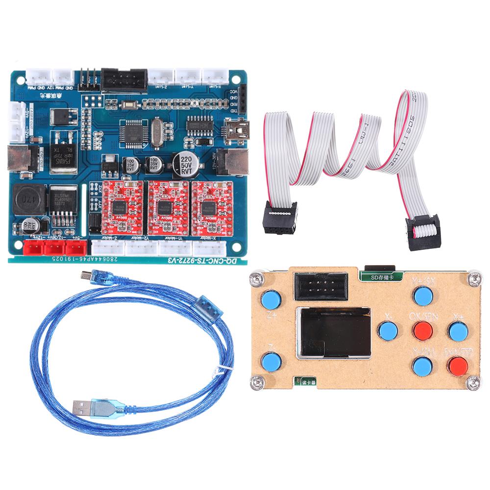 Х осевой GRBL USB-драйвер Автономный контроллер Модуль управления LCD Экран C Плата контроллера SD-карта для ЧПУ 1610 2418 3018 Wood Router Лазер Гравировал