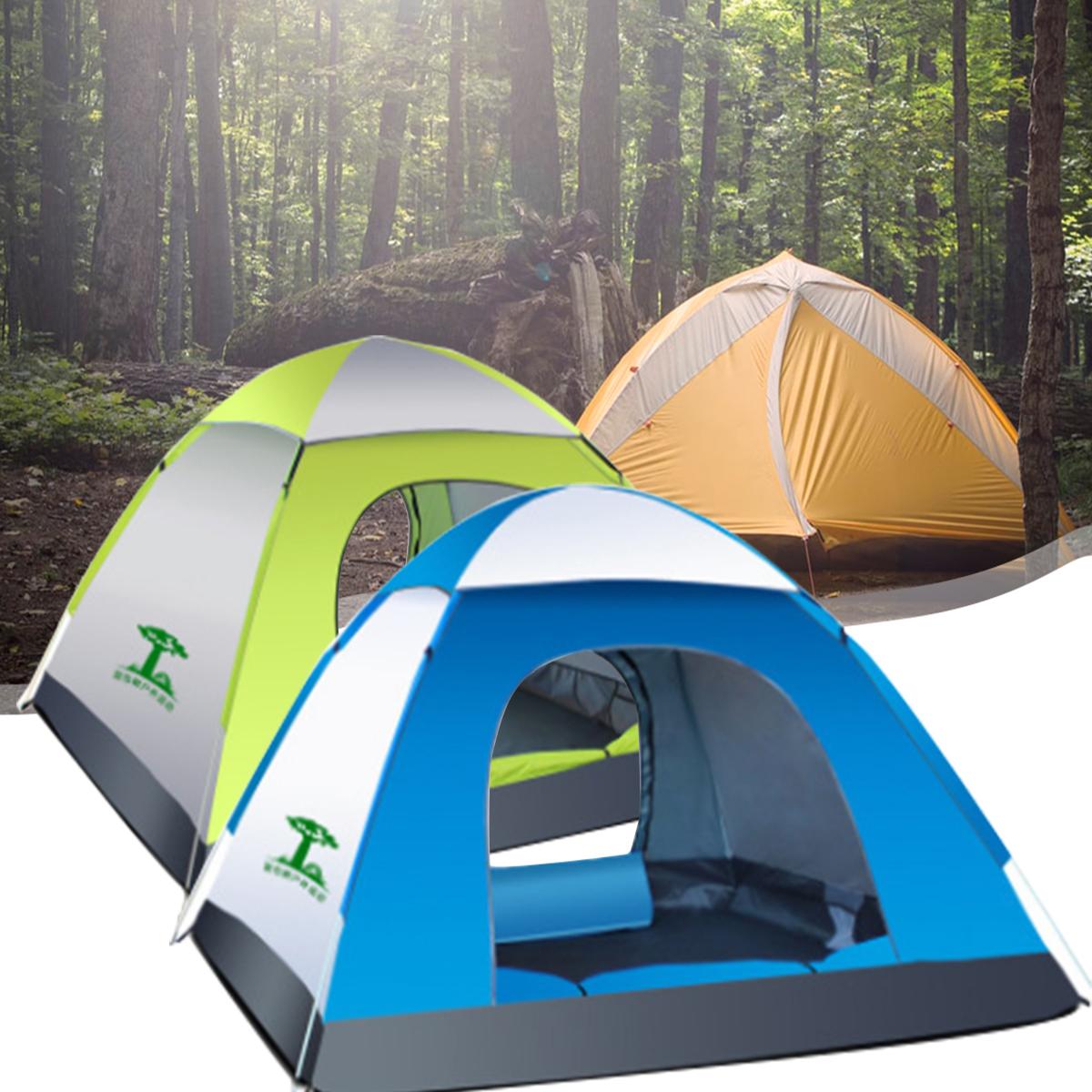 Человека Водонепроницаемы Автоматическая палатка На открытом воздухе Кемпинг Спящая палатка 210D Оксфорд Ткань Путешествия Пляжный Пала