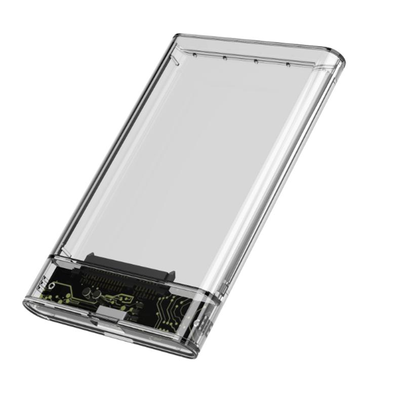 Дюймовый жесткий диск SATA I / II/III Прозрачный жесткий диск USB3.0 / USB2.0 Жесткий диск Корпус для хранения Чехол