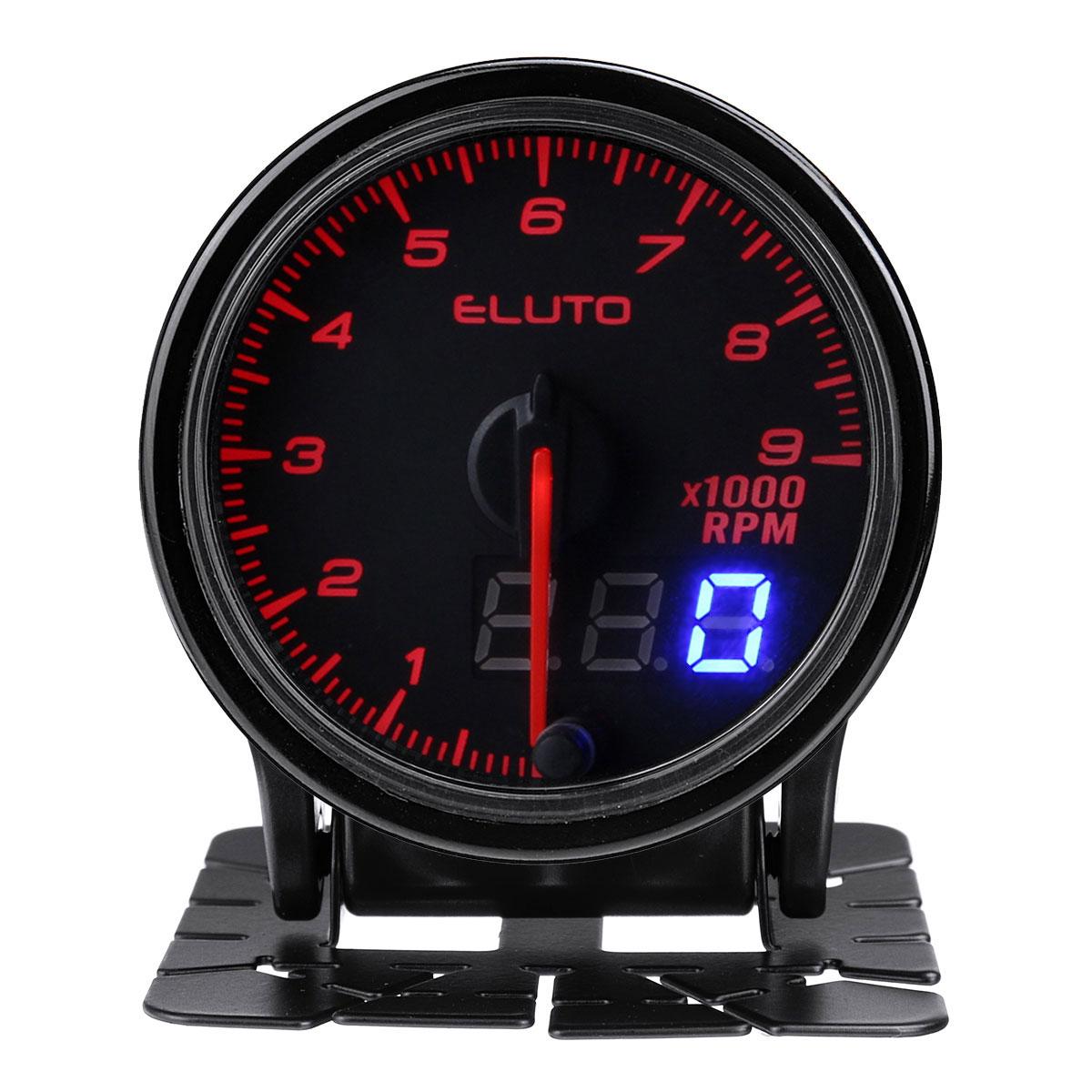 Дюймов 52 мм Auto Tach Тахометр RPM Датчик 10 Цвет LED Тонированное Лицо Универсальный