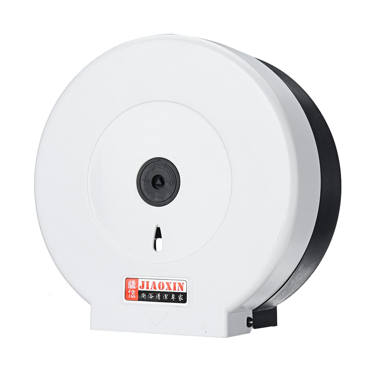 Черный / белый НАСТЕННЫЙ Пластиковый держатель для туалетной бумаги большой рулон запирается