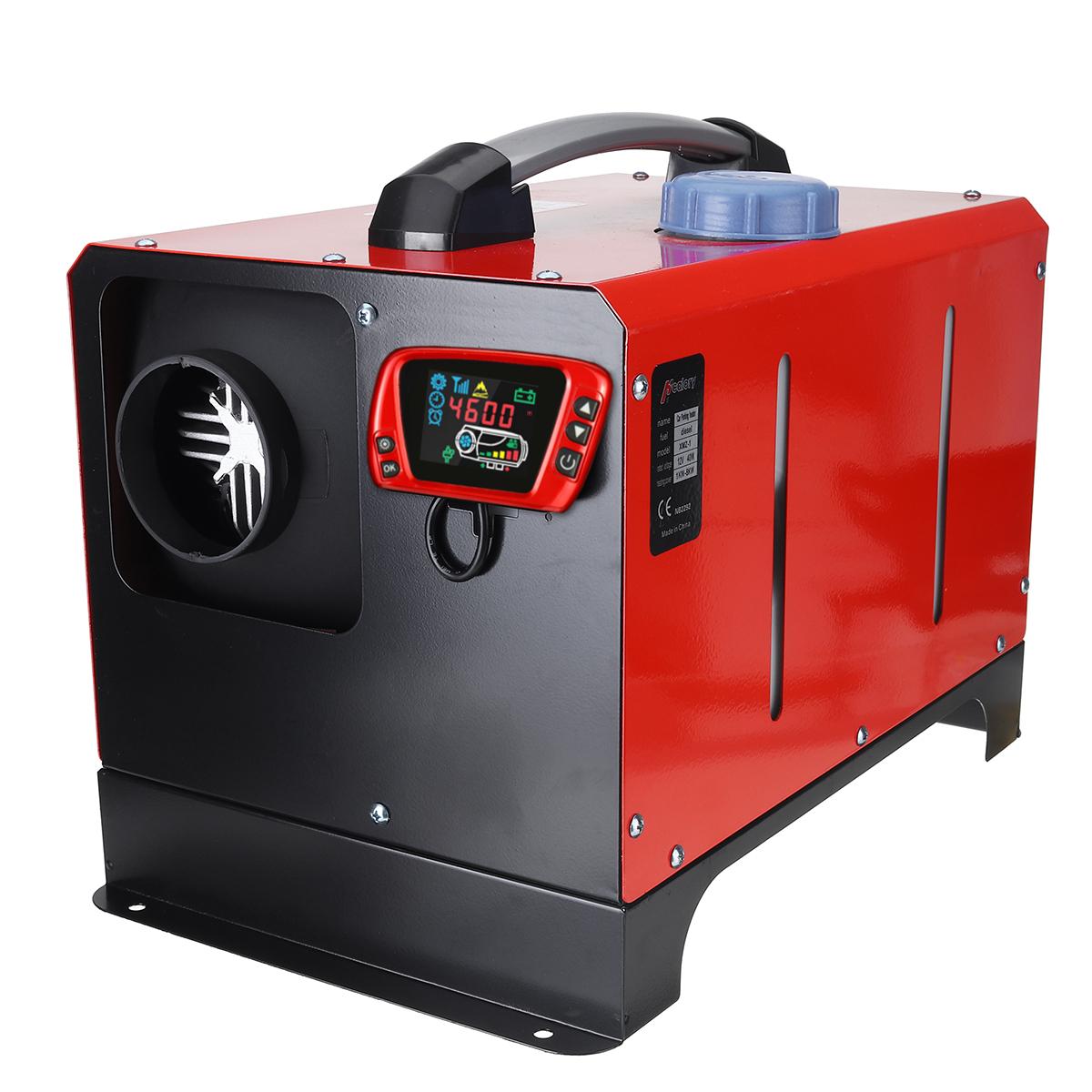 Все в One Единица 1-8KW 12V Авто Отопление Инструмент Diesel Air Нагреватель Одно отверстие LCD Монитор Парковочный обогреватель для Авто Грузовой ав