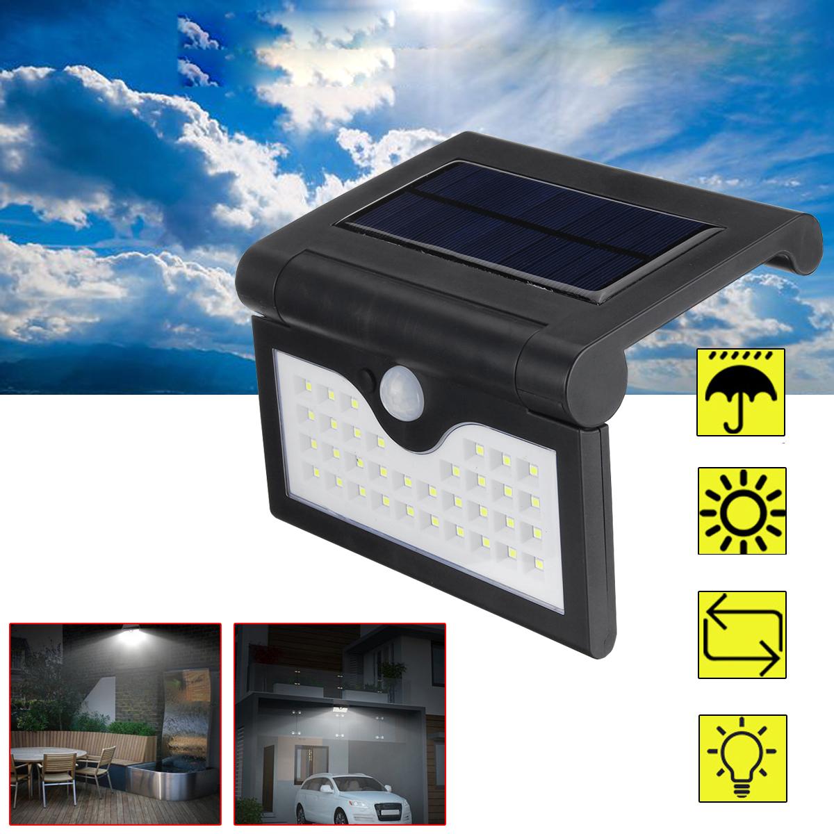 Солнечная Power Light На открытом воздухе PIR Motion Датчик Лампа Водонепроницаемы