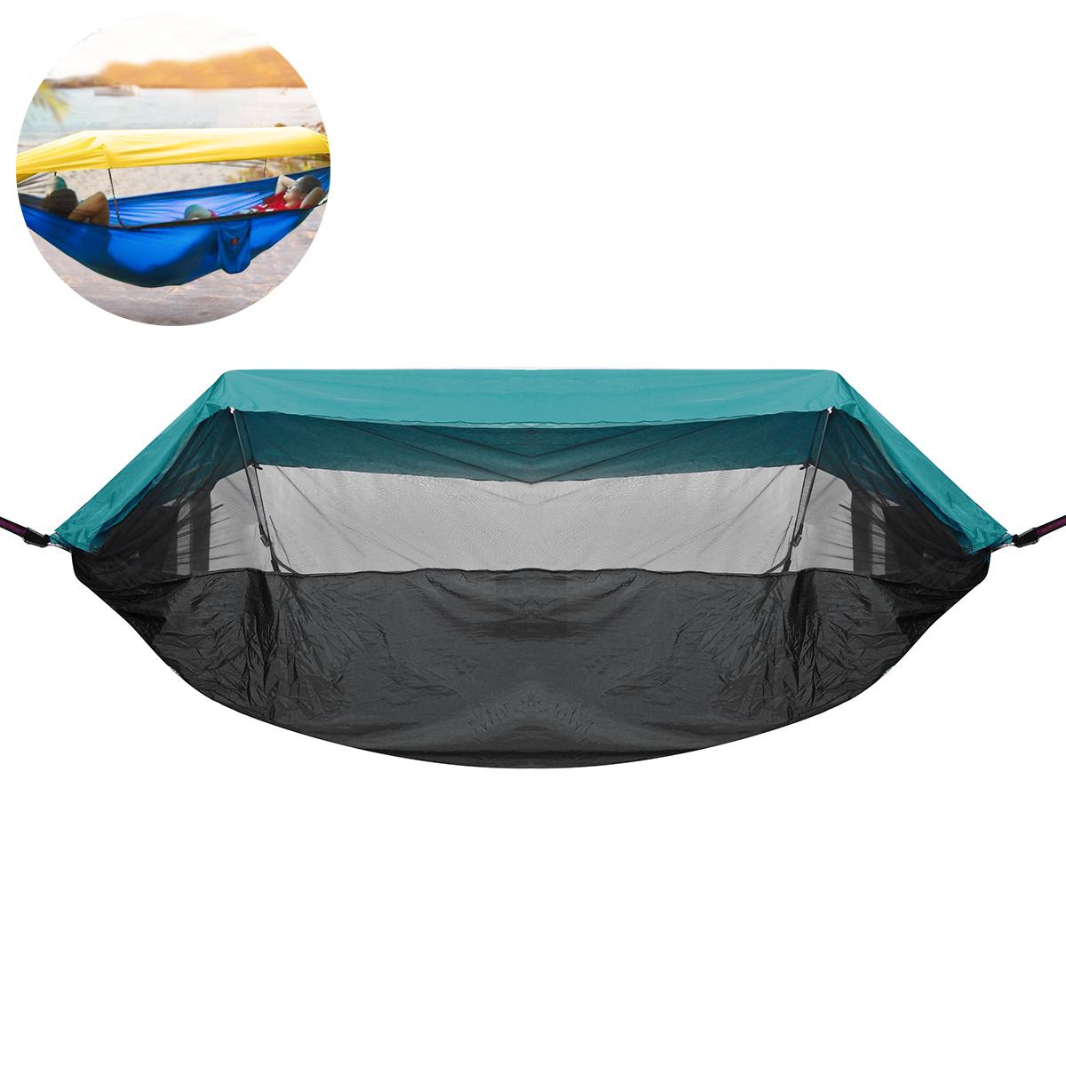 См На открытом воздухе Двуспальная гамак-подвесная качающаяся кровать с москитной сеткой Макс. Нагрузка 300 кг Кемпинг Пеший туризм