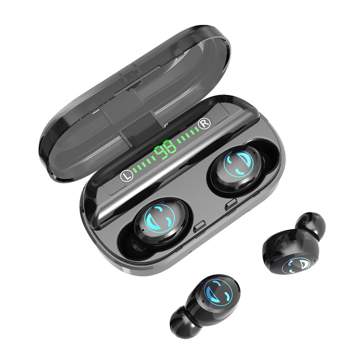Беспроводные наушники TWS bluetooth 5.0 Наушник CVC8.0 Шумоподавление HD Микрофон 4500mAh Power Bank Наушники