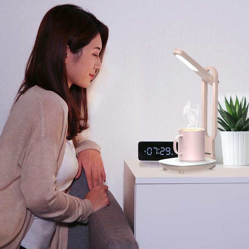Нагреватель Многофункциональный теплозащитный стаканчик для настольного компьютера Нагреватель с Лампа