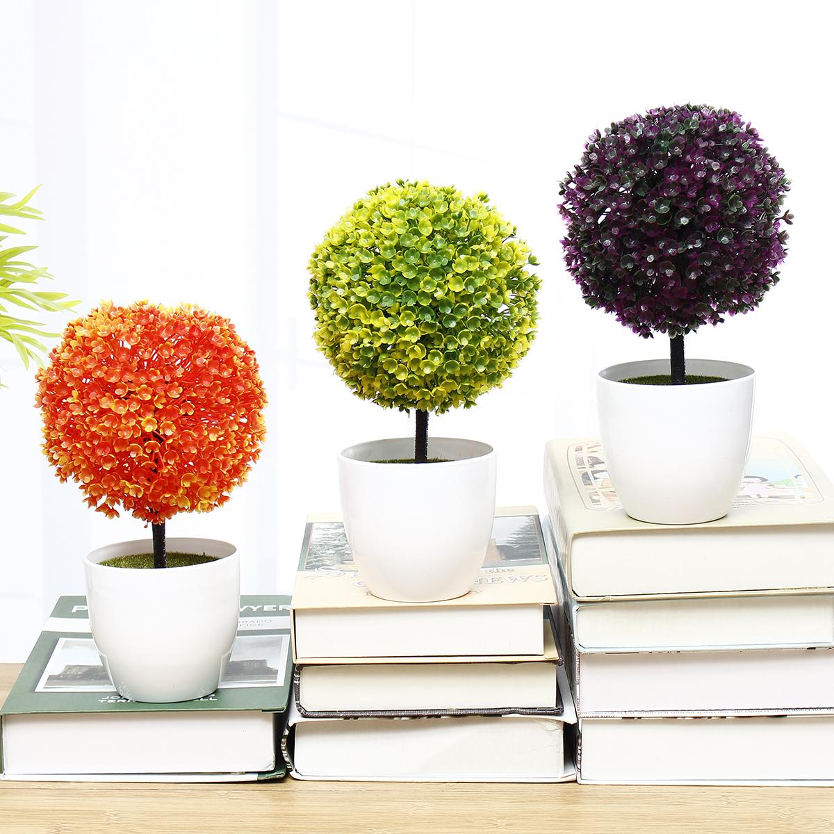 Цвет искусственный Растение цветочный горшок Свадебное ну вечеринку настольные украшения дома