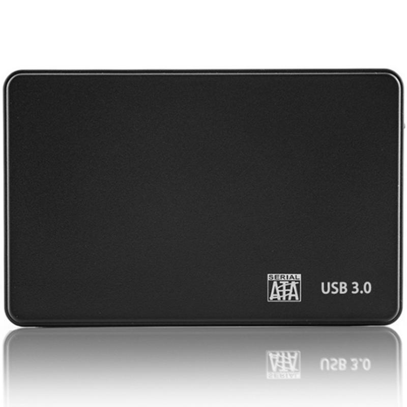 Дюймовый жесткий диск USB 3.0 SATA HDD SSD Жесткий диск Корпус 5 Гбит / с 2T Внешний Чехол для 2,5-дюймового жесткого диска SATA