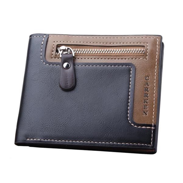 ® Мужской короткий кожаный бумажник для путешествий Trifold ID, держатель кредитной карты, монета Кошелек