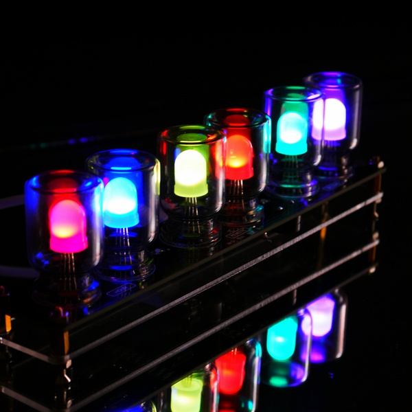 ® DIY Aurora LED Красочные Kit Light Cube Хроматография Glass Clock