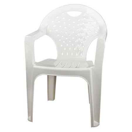 Кресло пластиковое 58х80х54см белое