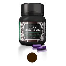 Sexy Brow Henna Хна Темно-Коричневая, 30 капсул
