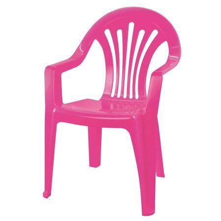 Кресло, пластиковое, детское, 37х35х57 см, розовый
