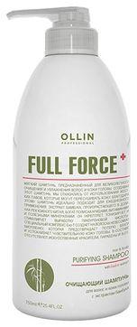 OLLIN PROFESSIONAL Шампунь Full Force Clarifying Shampoo Очищающий для Волос и Кожи Головы с Экстрактом Бамбука, 750 мл
