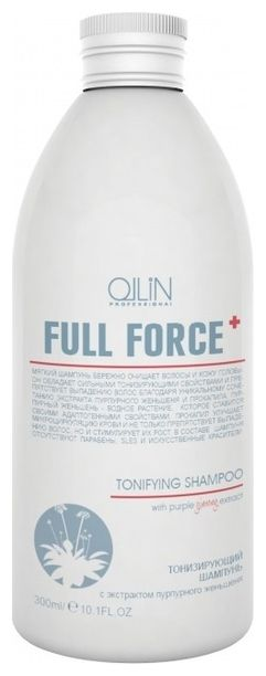 OLLIN PROFESSIONAL Шампунь Full Force Tonifying Shampoo Тонизирующий с Экстрактом Пурпурного Женьшеня, 300 мл