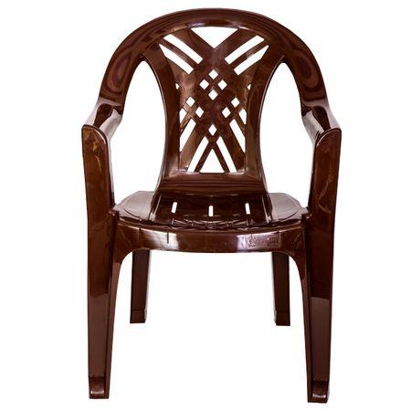 Кресло пластиковое Салют 66х60х84см шоколад в асс-те