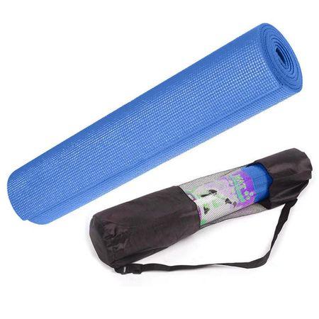 Коврик для йоги Blue 4мм (0.8 кг, 173 см, 4 мм, синий, 60 см)