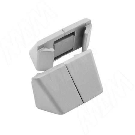 SLIM фиксатор универсальный для стеклянных и деревянных полок, компл. на 1 полку (SL3522)