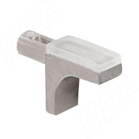 K-LINE Полкодержатель с дополнительным упором для стеклянных полок без фиксации, никель (1 02080 30 YA SET)