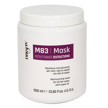Dikson Восстанавливающая маска для всех типов волос с аргановым маслом Maschera Ristrutturante M83, 1000 мл (Dikson, SM)