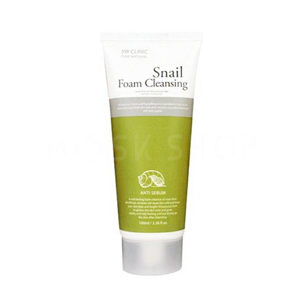 Пенка для умывания с улиточным муцином 3W CLINIC Snail Foam Cleansing