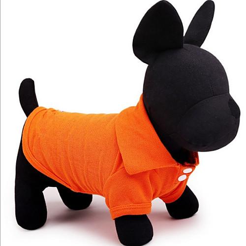 Собака Футболка Одежда для собак Однотонный Зеленый Синий Розовый Хлопок Костюм Назначение Весна #and# осень Лето Муж. Жен. На каждый день