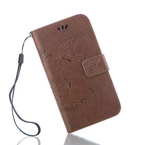Кейс для Назначение SSamsung Galaxy Кейс для  Samsung Galaxy Кошелек / Бумажник для карт / со стендом Чехол Бабочка Кожа PU для S7 Active / S7 plus / S7 edge plus