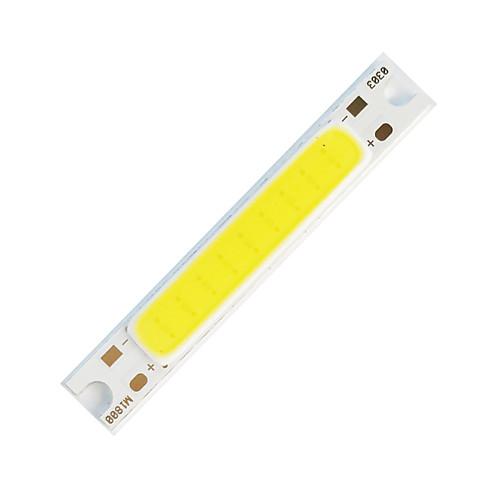 Шт DIY 5W 48x7,5 мм 300-400 лм теплый белый / 3000-3500 К световой удар светодиодный излучатель утолщенной алюминиевой подложки (DC5V)