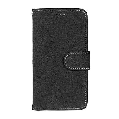 Кейс для Назначение LG K8 / LG / LG K7 Кошелек / Бумажник для карт / со стендом Чехол Однотонный Твердый Кожа PU для LG X Screen / LG X Power / LG V10 / LG K10