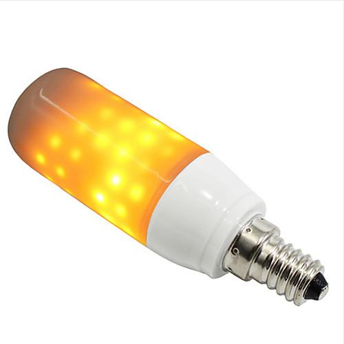 Шт. 3 Вт 250-280 лм. e14 / e26 / e27 светодиодные лампы / светодиодные кукурузные светильники 108 светодиодные шарики smd 2835 креатив / декоративный / мерцающий пламя желтый 85-265 v