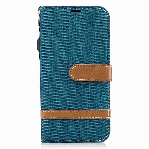 Кейс для Назначение Samsung J5 (2017) / J3 (2017) Кошелек / Бумажник для карт / Защита от удара Чехол Однотонный Твердый текстильный для J5 (2017) / J5 (2016) / J3 (2017)