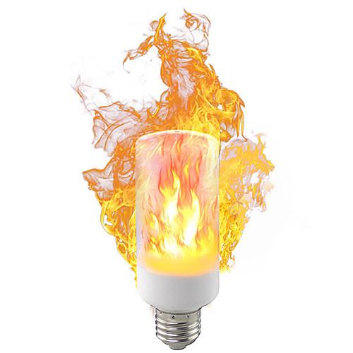 Новый светодиодный флейм новинка освещения лампы 5 Вт 9 Вт ac85-265 В 1400-1600 К третьей передаче режим моделирования пламени динамический свет