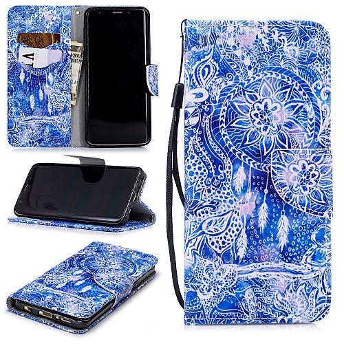 Кейс для Назначение SSamsung Galaxy S9 Plus Кошелек / Бумажник для карт / Защита от удара Чехол Ловец снов Твердый Кожа PU для S9 Plus