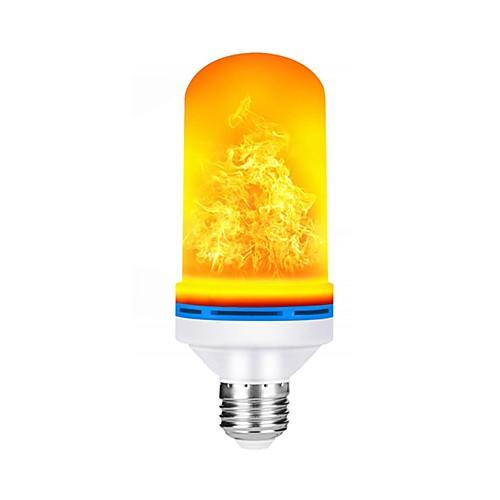 Шт 5 W Круглые LED лампы 150 lm E26 / E27 99 Светодиодные бусины SMD 2835 Градиент цвета Пламя мерцания Тёплый белый 85-265 V