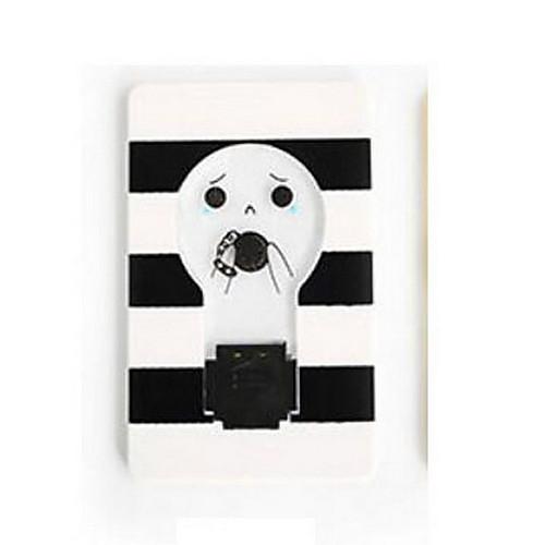 Новинка мини-кошелек карманный размер кредитной карты портативный светодиодные ночные лампочки симпатичные бумажные карты фонарик забавный светильник