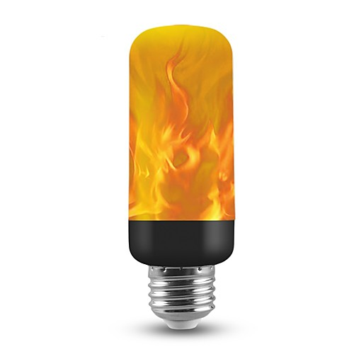 Шт 3 W Круглые LED лампы 150 lm E26 / E27 T 40 Светодиодные бусины SMD 2835 Новогоднее украшение для свадьбы Пламя мерцания 3D Фейерверк Теплый Желтый 85-265 V / RoHs / FCC
