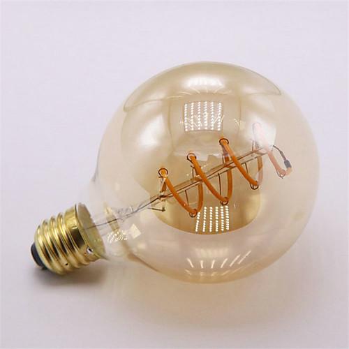 Шт. 4 Вт светодиодные лампы накаливания 300 лм E26 / E27 G95 1 светодиодные шарики початка затемнения декоративные мягкие накаливания теплый белый 220-240 В