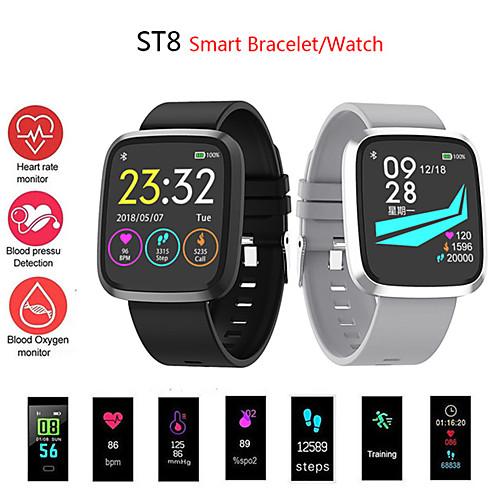 Универсальные Смарт Часы Android iOS Bluetooth Водонепроницаемый Сенсорный экран Пульсомер Измерение кровяного давления Спорт