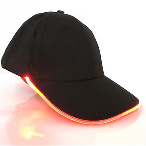 Новинка новый дизайн светодиодное освещение шляпа украшение партии бейсбол хип-хоп свет шапки регулируемая ткань шляпа светящиеся колпачок