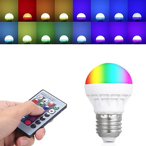 Шт 3 W Круглые LED лампы 150 lm E26 / E27 3 Светодиодные бусины Высокомощный LED На пульте управления 85-265 V
