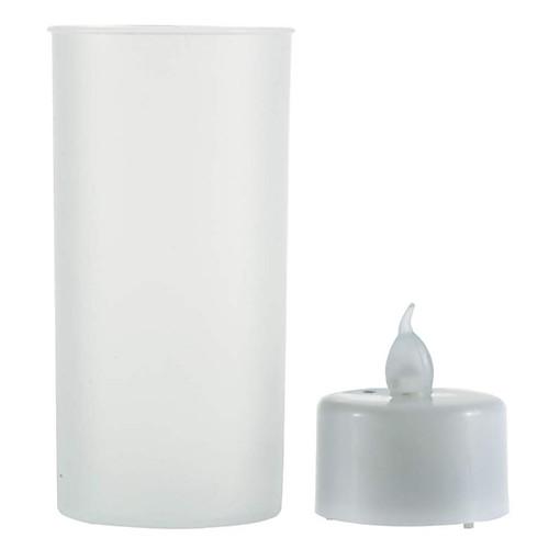 Новинка трясти звук романтический датчик беспламенного удара светодиодная свеча чайная лампа полупрозрачная чашка светодиодная свеча