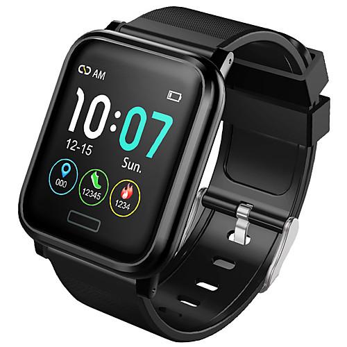 Мужчины Смарт Часы Android iOS Bluetooth Водонепроницаемый Сенсорный экран Пульсомер Измерение кровяного давления Спорт