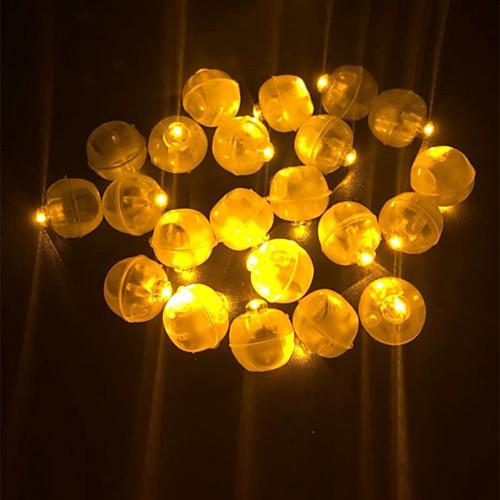 Новинка 50 шт. светодиодный мини-пластиковый круглый шар шар свет для бумажный фонарь воздушный шар ну вечеринку свадьба день рождения фестиваль декора