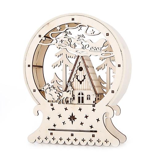 Новинка деревянный дом лес лось рождество светящиеся домики креативный подарок стол декор рождественские украшения вечеринка светодиодное освещение